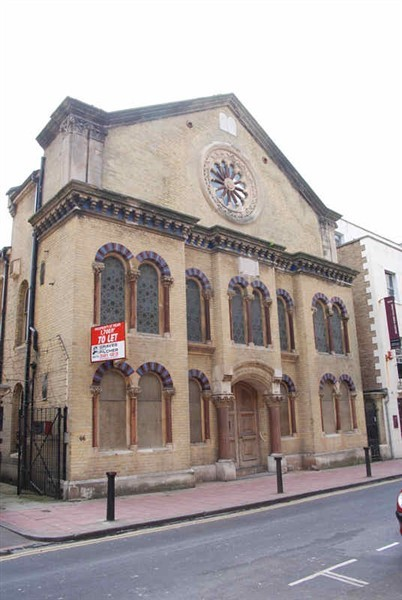 Exterior Middle Street Synagogue.  ©Tony Mould: http://www.mybrightonandhove.org.uk.   There are now four synagogues in the City: the Brighton & Hove Hebrew Congregation, the Hove Hebrew Congregation, the Brighton & Hove Reform Synagogue and the Brighton & Hove Progressive Synagogue.