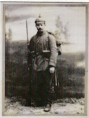 Joseph Schönwetter, of the 3rd Bavarian Regiment.  Service No. 18500.  POW.  Roman Catholic.  Died on 6th November 1918 aged 32 years.  Buried on the day of the Armistice, 11th November 1918.